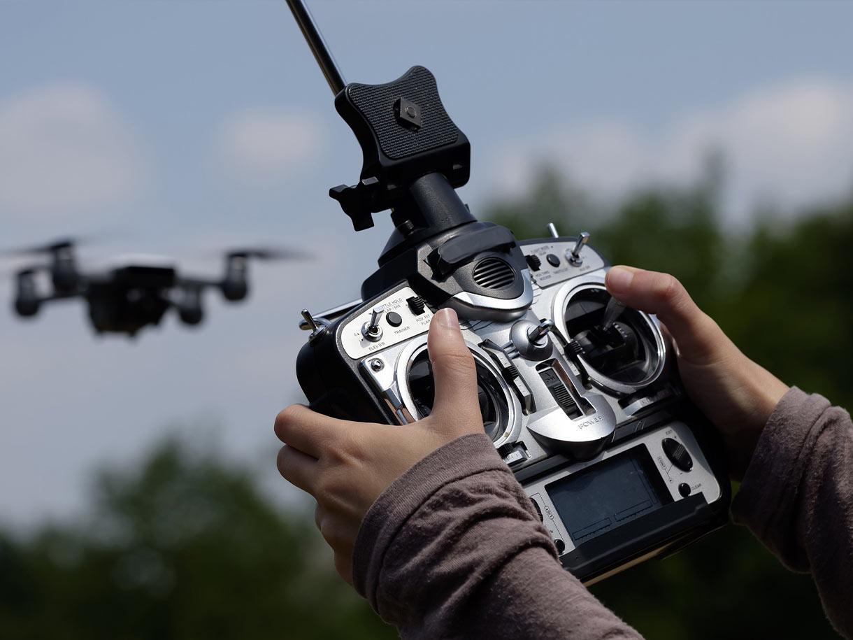 Steuerung und Ergonomie von Multikoptern (Drohnen)